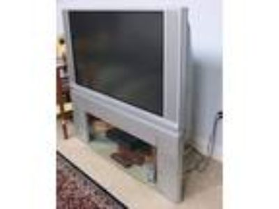 "HITACHI HDTV 50"" Ultravision Digital Television with Shelf"