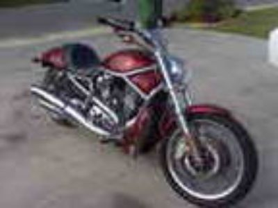 Harley Davidson Vrscaw 2008 V Rod Candy Red Bike W 1250cc