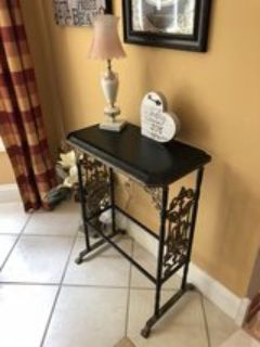 Adorable Wrought Iron Side Table!