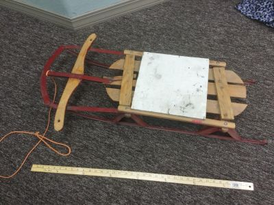 Super cute porch decor, really old, worn sled, so cute for Christmas and Winter outdoor decor. $6.00