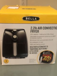 Tried once PRACTICALLY BRAND NEW BELLA AIR FRYER