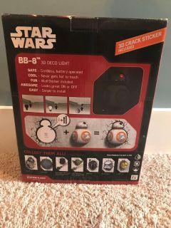 NIB Star Wars BB-8 3D Deco Light