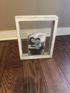 Glass picture frame for sand ceremony
