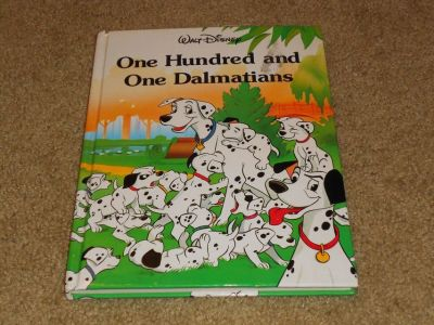 Vintage 1991 Walt Disney One Hundred and One Dalmatians Thick Hard Cover Book 101