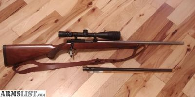 For Sale/Trade: Ruger M77 22 Magnum w/ a Stainless Fluted .17hmr Barrel
