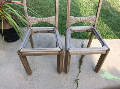 Rustic chairs, antique