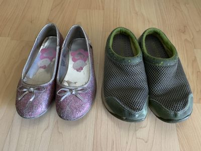 Size 13 Merrell and Hello Kitty Shoes