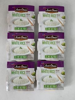 6 Bowls Annie Chun's Cooked White Sticky Rice, Gluten-Free, Vegan, Low Fat, Sushi Rice, 7.4-oz each