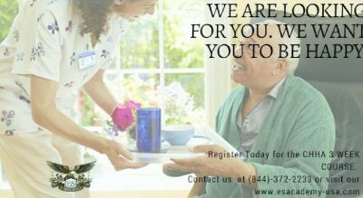 CHHA Class coming up next month! Register for  our spring course!