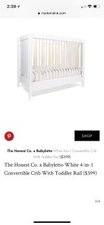 The Honest Company 4 and 1 convertible crib