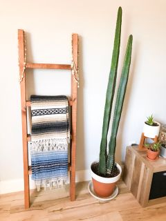 Homemade blanket ladder