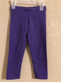Sparkling Purple Leggings Pants. Like New Condition. Size 24 Months