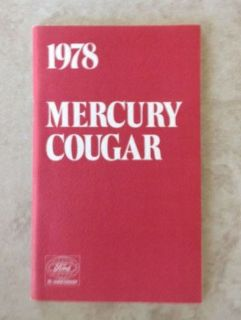 Purchase 1978 Mercury Cougar Owners Manual motorcycle in Bloomfield Hills, Michigan, United States, for US $3.99
