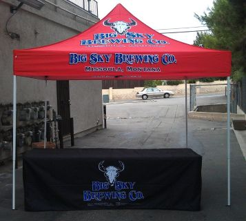 Vendor Tents and Table Cover For Brand Promotions