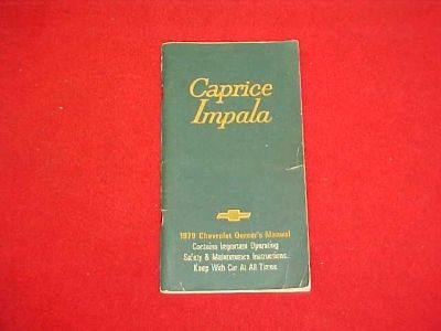 Find 1979 CHEVROLET CAPRICE IMPALA ORIGINAL OWNERS MANUAL SERVICE GUIDE BOOK 79 OEM motorcycle in Leo, Indiana, US, for US $5.99
