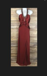 Princess Collection Ruby Red Beaded Ball Gowned