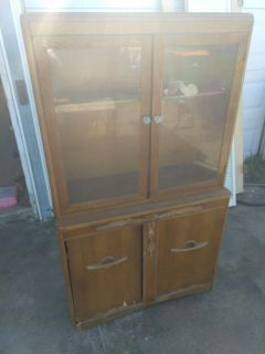 Antique hutch and armoire