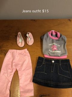 "18"" Doll Jean Outfit with Shoes"
