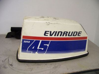 Purchase Used Evinrude Super Commercial 45 HP Cowling Hood, Pull Rope Opening motorcycle in Scottsville, Kentucky, United States, for US $89.00