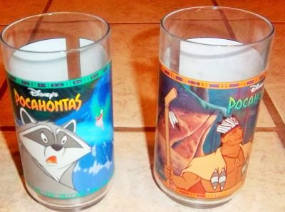 Two new Pocahontas Glasses in box