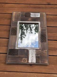 Contemporary & Rustic Chic - Reclaimed Wood Art Mirror