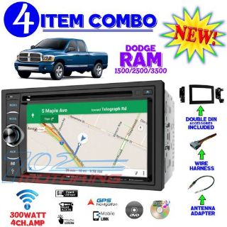 Sell 06 07 08 09 10 DODGE RAM DOUBLE DIN DVD NAVIGATION BLUETOOTH BT CAR STEREO RADIO motorcycle in Las Vegas, Nevada, United States, for US $339.99