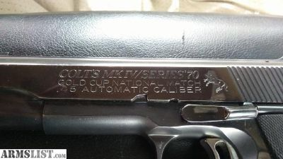 For Sale: COLT'S MK IV/SERIES'70 GOLD CUP NATIONAL MATCH .45 AUTOMATIC CALIBER