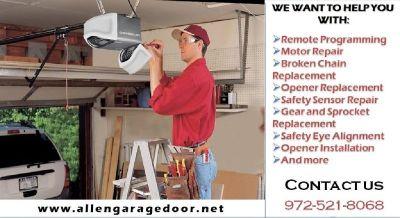 Local Garage Door Opener repair in Allen, TX | only $25.95