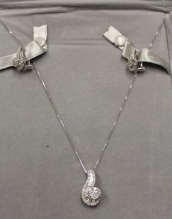 BEAUTIFUL 14KT White Gold Necklace & Earring Set