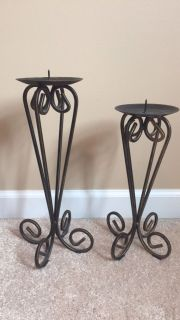 Oil Rubbed Bronze Wrought IronCandle Holders