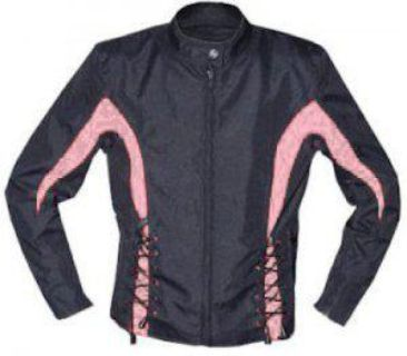 Find Ladies Laced Black Fabric Motorcycle Jacket VL6463 motorcycle in Palatine, Illinois, US, for US $49.95