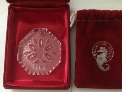 1988 Waterford Crystal 12 days of Christmas Ornament