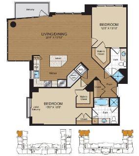 $7260 2 apartment in Reston