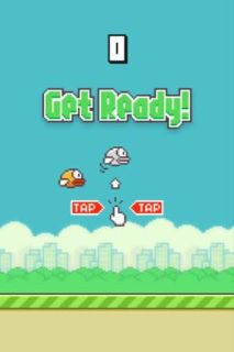 IPHONE 4S WITH FLAPPY BIRD INSTALLED