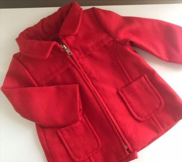 6-12 Month Red Christmas Coat