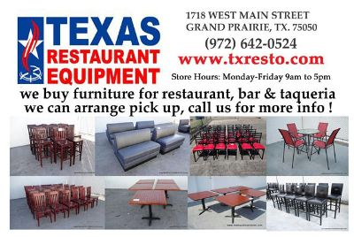 $500, we BUY Tables, booths and chairs