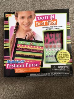 Kids Duct Tape Make Your Own Fashion Purse - New In Box
