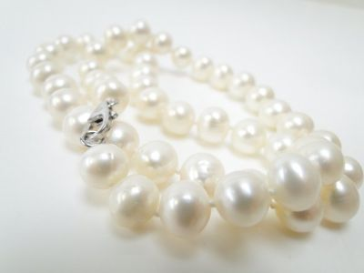 Freshwater Pearl Necklace with 925 Silver Clasp