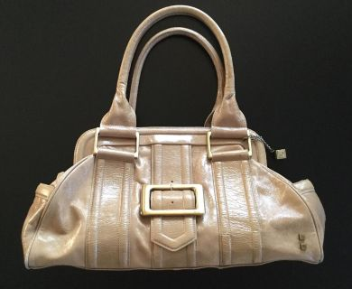 Tan leather Helen welsh large purse hand bag