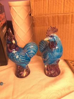 6 tall Blue Roosters