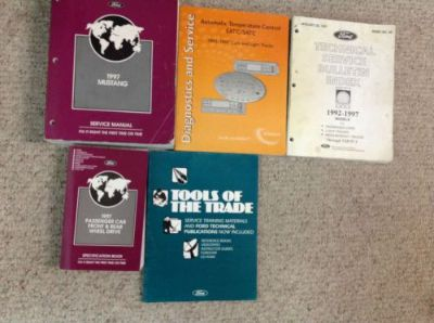 Sell 1997 Ford Mustang Gt Cobra Service Shop Manual Set W SPECS & BULLETINS BOOK OEM motorcycle in Sterling Heights, Michigan, United States, for US $149.95