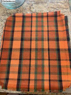 Westy Storage Box Fabric - Orange Plaid