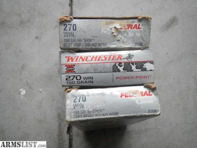 For Sale: Winchester 270 Ammo