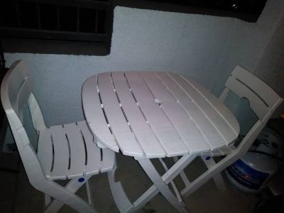 Adams Manufacturing Quick Fold Cafe Bistro Table & Chairs Patio Set