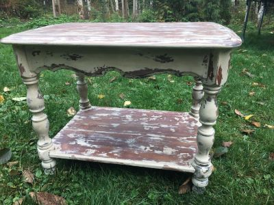 Rustic Shabby Chic End Table