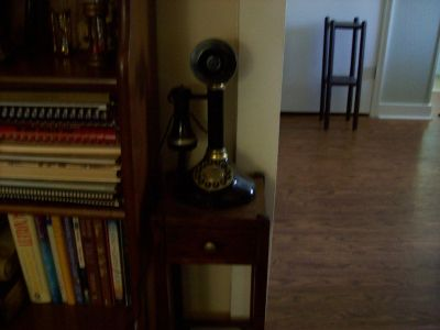 reproduction candlestick phone. works