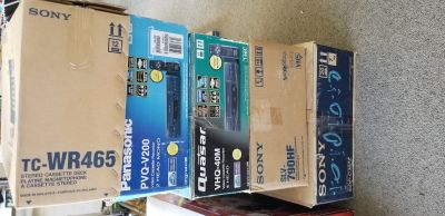 VCRs in the boxes vintage some new
