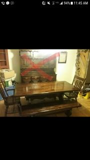 6ftx3ft table chairs and benches