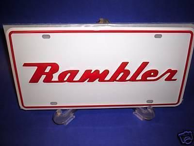 Purchase AMC AMERICAN MOTOR RAMBLER LICENSE PLATE TAG JAVELIN GREMLIN HORNET HEAVY METAL motorcycle in Brownsville, California, US, for US $14.99