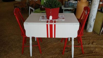 Vintage table with 2 chairs